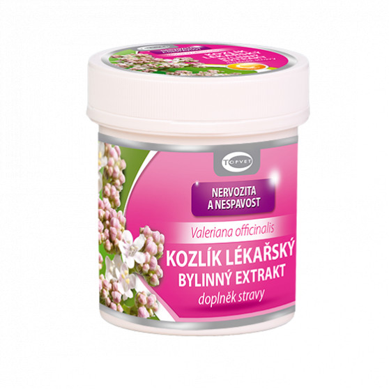 Kozlík lékařský bylinný extrakt Topvet