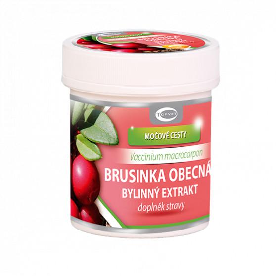Brusinka obecná bylinný extrakt Topvet