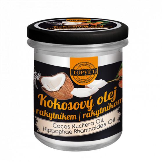Kokosový olej s rakytníkem 250ml Topvet