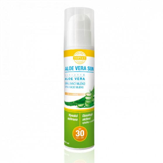 Aloe vera opalovací mléko SPF 30 200ml Topvet
