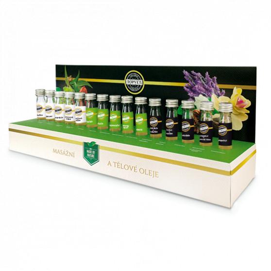 Testovací sada masážních olejů Topvet