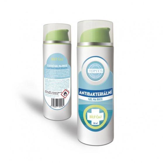Antibakteriální gel na ruce - Bilý čaj 50ml Topvet