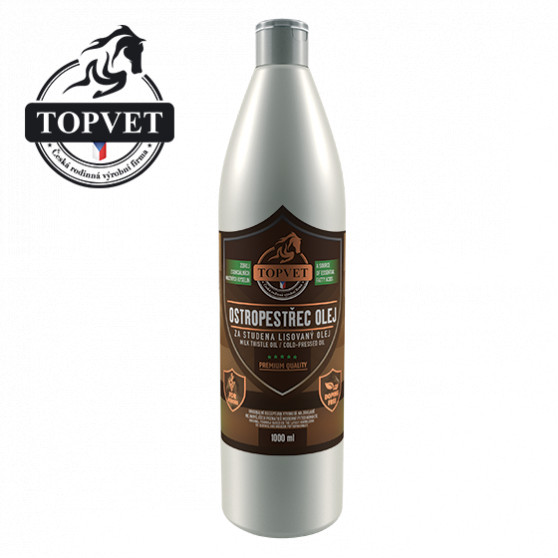 Ostropestřec olej pro koně 1000ml Topvet