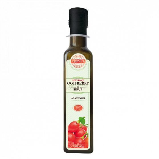 Goji berry stéviový sirup - farmářský 250ml Topvet