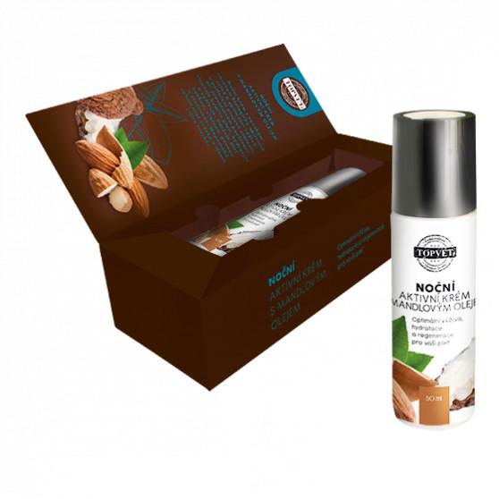 Noční aktivní krém s mandlovým olejem 50ml Topvet