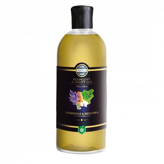 Levandule a meduňka v mandlovém oleji 500ml Topvet