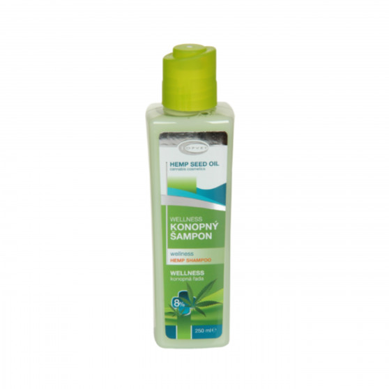 Wellness konopný šampon 8% 250 ml Topvet