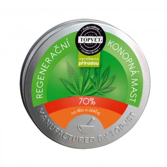 Regenerační konopná mast 70% 100 ml Topvet