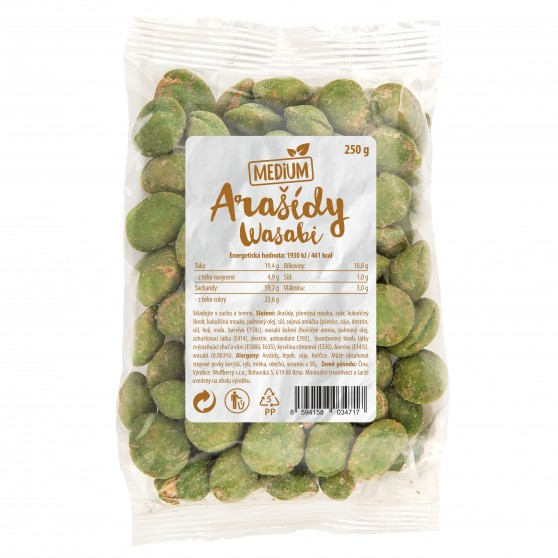 Arašídy wasabi 250g Medium