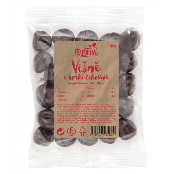 Višně v hořké čokoládě 100g Medium