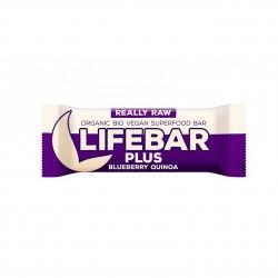Lifebar Plus tyčinka borůvková quinoa BIO 47g Lifefood