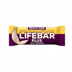 Lifebar Plus tyčinka acai s banánem BIO 47g Lifefood