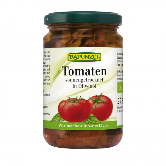 Sušená rajčata v extra panenském olivovém oleji BIO 275g Rapunzel