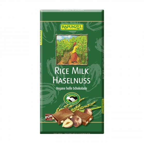 Čokoláda rýžová s kousky oříšků BIO 100g Rapunzel