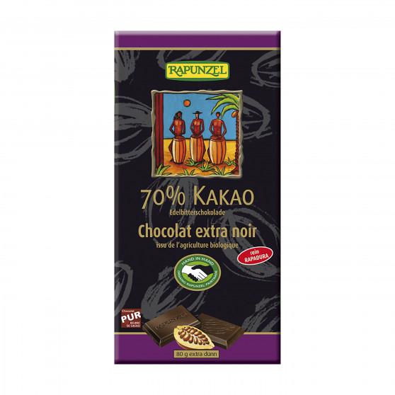 Čokoláda hořká 70 % BIO 80g Rapunzel