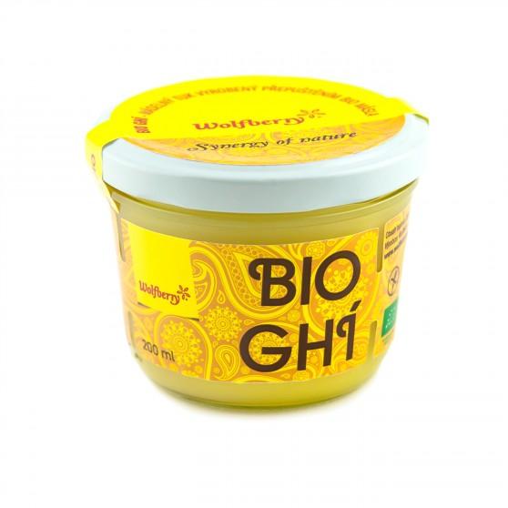 Ghí - přepuštěné máslo BIO 200ml Wolfberry